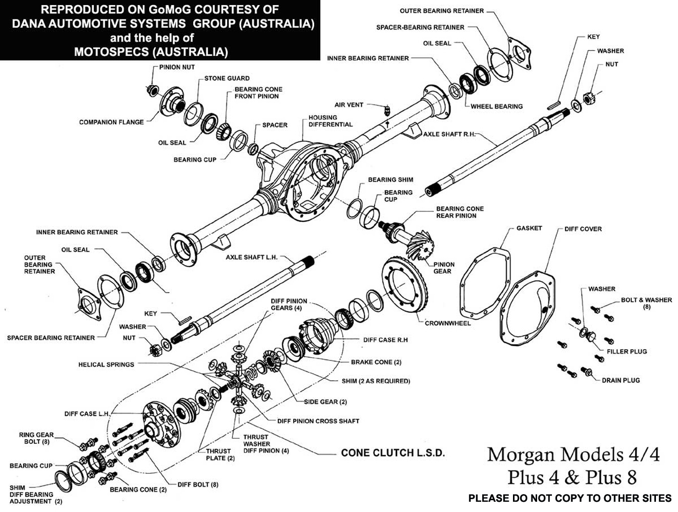 Morgan Sports Car Plus 8s Range Rover 3 5 Wiring Diagram 101 Btr Axle